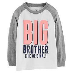 4b1ca382c2d137 Toddler Boy Carter s  Big Brother (The Original)  Raglan Tee