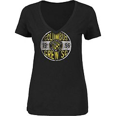 Women's Majestic Columbus Crew Distressed Tee
