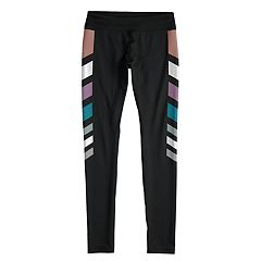 Girls 7-16 SO® Metallic Chevron Stripe Full Length Leggings