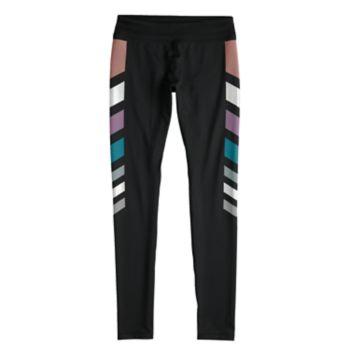 Girls 7-16 SO® Metallic Chevron Stripe Full Length Leggings