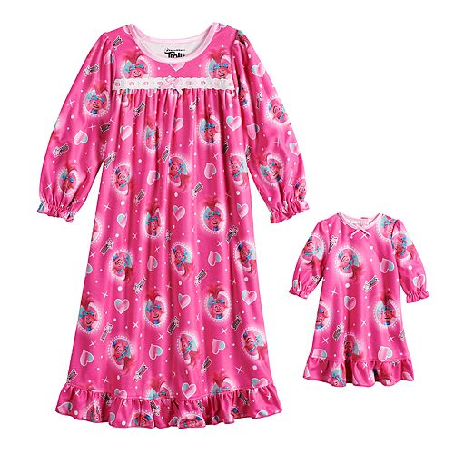Toddler Girl DreamWorks Trolls Poppy Nightgown & Doll Nightgown
