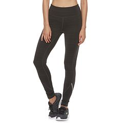 Women s FILA SPORT® Signature Fleece Mid-Rise Leggings. Black Heather.  clearance cbcecb1e69