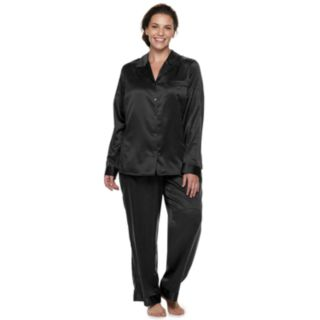 Plus Size Apt. 9® Satin Top & Pants Pajama Set