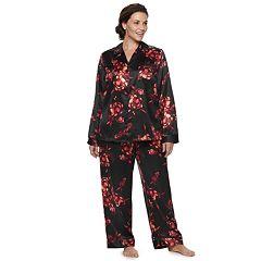 Plus Size Apt. 9® Satin Top & Pants Pajama Set