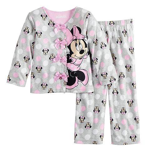 Girls Minnie Mouse Character Cotton Lounge Wear Pants Pyjama Bottoms