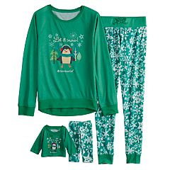 Girls 4-16 American Girl Holiday Top & Bottoms Pajama Set & Matching Doll Pajama Set