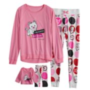 Girls 4-16 American Girl Top & Bottoms Pajama Set & Matching Doll Pajama Set