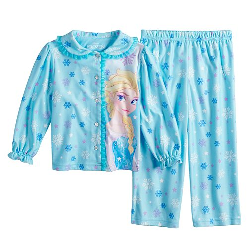 Disney's Frozen Toddler Girl Elsa Top & Bottoms Pajama Set