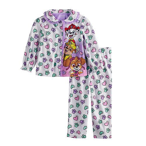 Toddler Girl Paw Patrol Marshall, Rubble & Skye Top & Bottoms Pajama Set