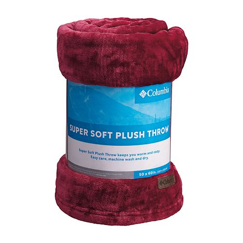 Columbia Super Soft Plush Throw