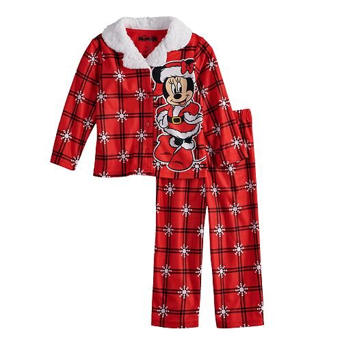 Disney's Minnie Mouse Toddler Girl Christmas Top & Bottoms Pajamas