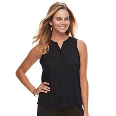 Petite Apt. 9® Pleated Georgette Tank