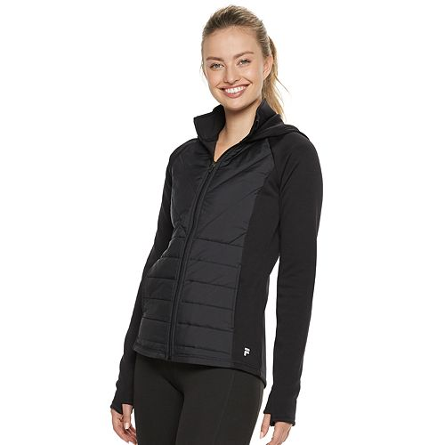 Women's FILA SPORT® Mixed-Media Hooded Jacket