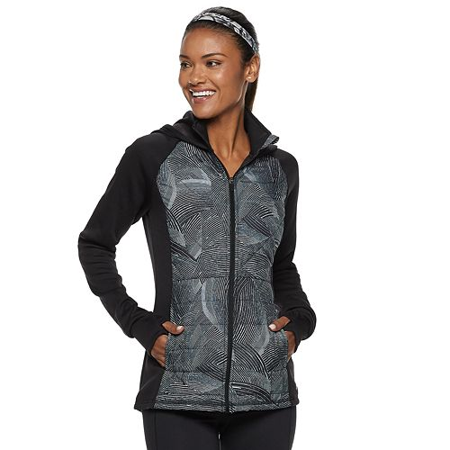 c0f0c78546ca Women s FILA SPORT® Quilted Mixed-Media Hooded Jacket