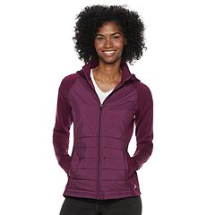 Women's FILA SPORT® Mixed-Media Hooded Jacket