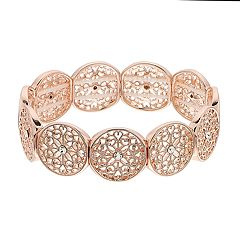 LC Lauren Conrad Rose Gold Tone Filigree Bracelet