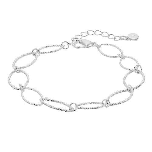 LC Lauren Conrad Textured Oval Link Bracelet