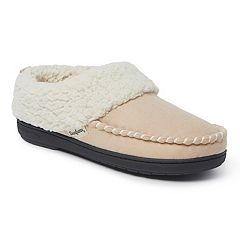Women's Dearfoams Whipstitch Trim Microsuede Clog Slippers