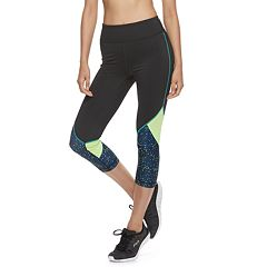Women's FILA SPORT® Mesh-Pieced High-Waisted Capri Leggings