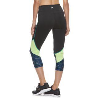 Women's FILA SPORT® Mesh-Pieced High-Waisted Capri Leggings