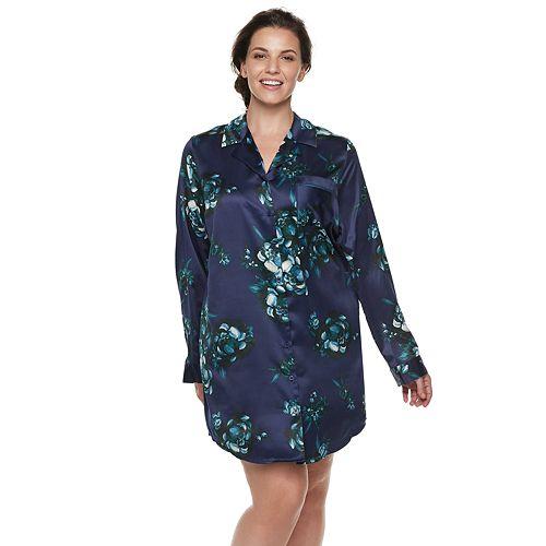 Plus Size Apt. 9® Satin Sleepshirt