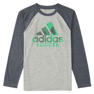 Toddler Boy adidas Logo Raglan Graphic Tee