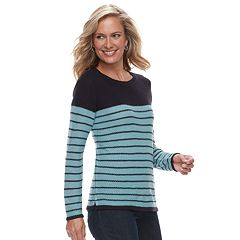 Women's Croft & Barrow Seed-Stitch Crewneck Sweater