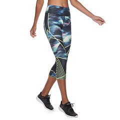 Women's FILA SPORT® Printed  High-Waisted Capri Leggings