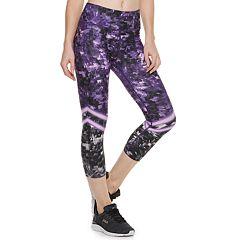 Women's FILA SPORT® Printed  High-Waisted Capri Leggings