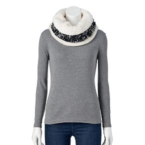 Women's SONOMA Goods for Life? Chunky Cable-Knit Lined Snood