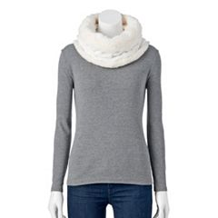 Women's SONOMA Goods for Life™ Chunky Cable-Knit Lined Snood