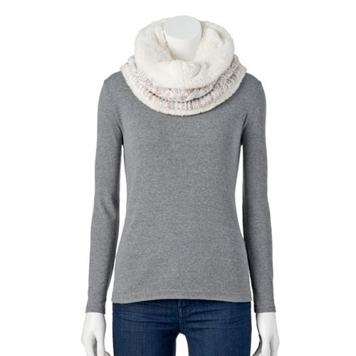 Women's SONOMA Goods for Life® Chunky Cable-Knit Lined Snood