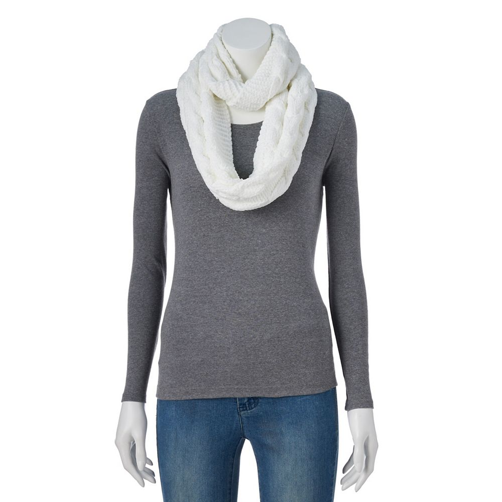 Women's SONOMA Goods for Life® Cable-Knit Chenille Infinity Scarf