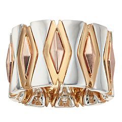 Jennifer Lopez Tri-Tone Stretch Ring