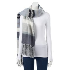 Women's SONOMA Goods for Life™ Striped Boucle Oblong Scarf