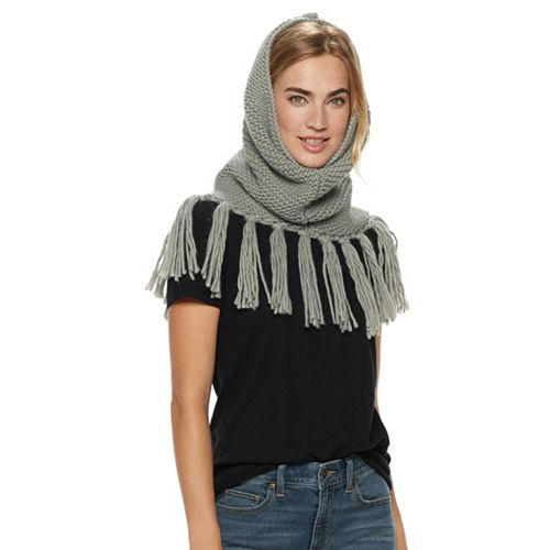 Women's SONOMA Goods for Life™ Cable-Knit Tasseled Snood