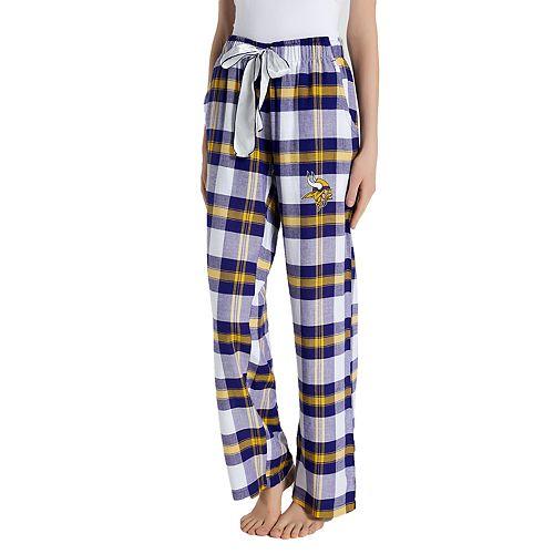 b3665fa4a76 Women s Headway Minnesota Vikings Flannel Pajama Pants