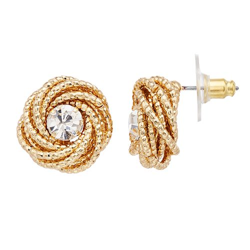 Dana Buchman Textured Knot Stud Earrings