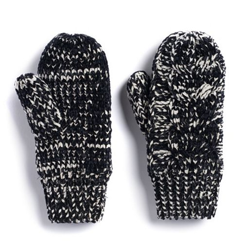 Women's SONOMA Goods for Life™ Cable-Knit Chenille-Lined Mittens