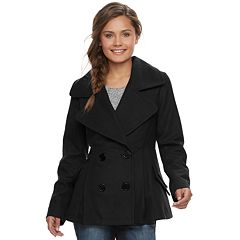 Juniors' J-2 Oxford Wool Double Breasted Jacket