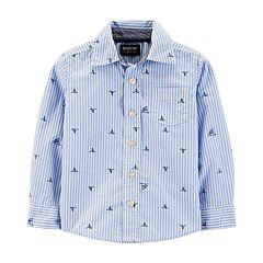 Toddler Boy OshKosh B'gosh® Sharks Striped Button Down Shirt