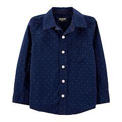 Toddler Boy OshKosh B'gosh® Dotted Button Down Shirt