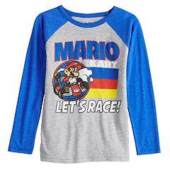 db98c163b5abd8 Boys 4-12 Jumping Beans® Mario Kart  Let s Race  Raglan Graphic Tee