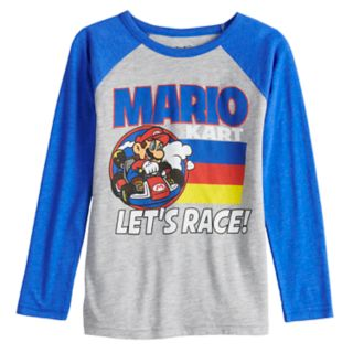 "Boys 4-12 Jumping Beans® Mario Kart ""Let's Race"" Raglan Graphic Tee"
