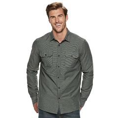 Men's Apt. 9® Brushed 2-Pocket Button-Down Shirt