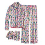 Girls 4-16 American Girl Holiday Button Top & Bottoms Pajama Set & Matching Doll Pajama Set