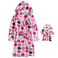 Girls 4-16 American Girl Robe & Matching Doll Robe Set