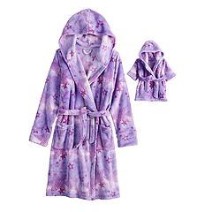 Girls 4-16 American Girl Robe & Matching Doll Robe Set