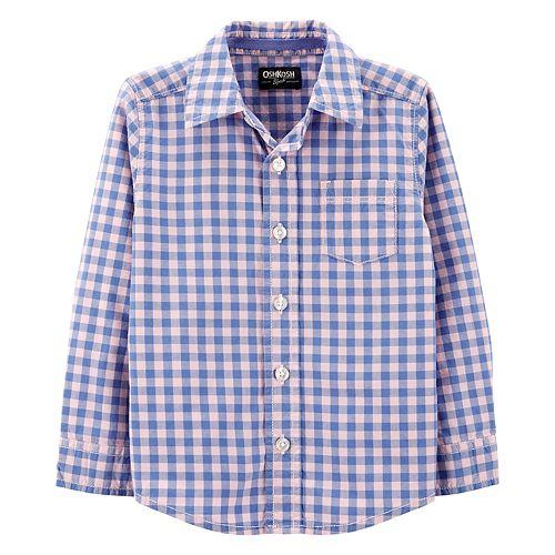 Toddler Boy OshKosh B'gosh® Checkered Pocket Shirt