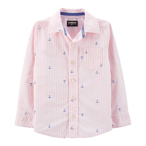 Toddler Boy OshKosh B'gosh® Striped & Anchors Shirt